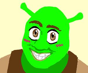 Shrek with big eyes
