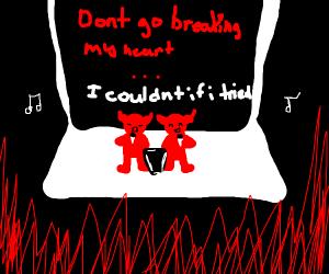 Karaoke night in hell.
