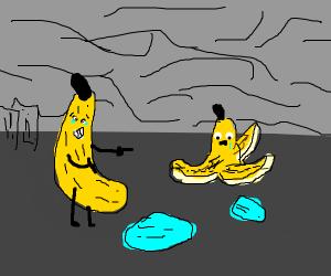 Banana laughs at banana peel