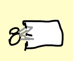 Scissors snips paper