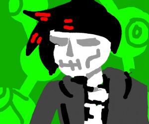 teenage skeletal figure