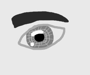 greyscale eye