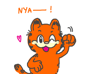 "Garfield saying ""Nya"""