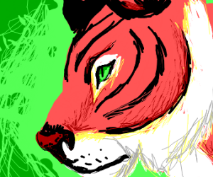 A green eyed tiger