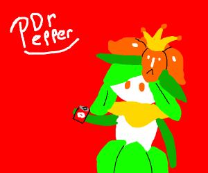 Lilligant advertises Dr.Pepper