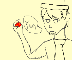 abe lincoln with a meatball