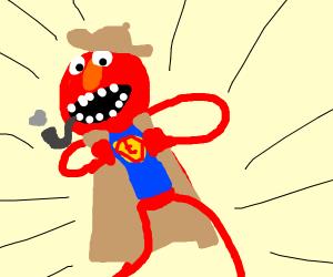 Super hero sherloche homes but also elmo