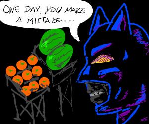 Batman Watches you grocery shop
