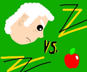 Isaac Newton vs. one apple boi