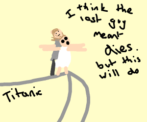 Titanic scene when Jack does