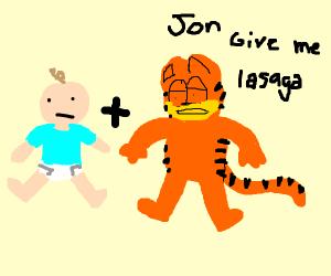 baby + Garfield