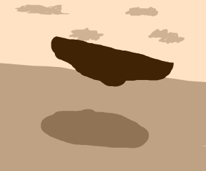 Floating flat rock