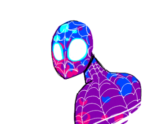 A purple spiderman