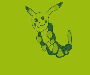 Caterpie but the head is Pikachu