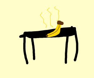 Banana on table