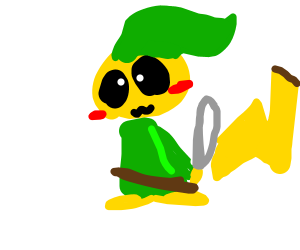 link as a pikachu