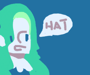 Seaweed woman wants your hat