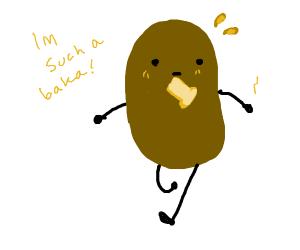 a potato late for school