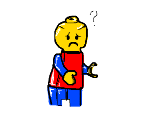 Lego man is confused