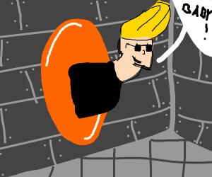Johnny bravo half in portals