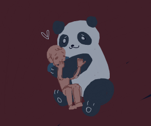 Panda shows you love and affection