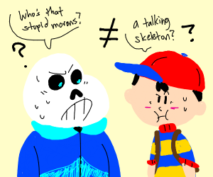 Sans does not equal Ness.