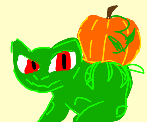 Bulbasaur with a pumpkin-bulb!