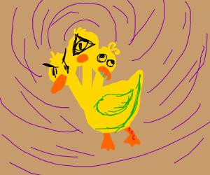 3-Headed X-mas duck possessed by illuminati
