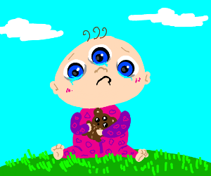 3 eyed baby cry