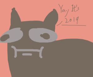 """Dog saying """"Yay! 2019!"""""""