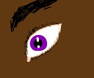 Well drawn purple eye