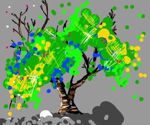 Beautiful impressionist/pointillist tree