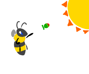 Crazy Bee throws nuke at the sun