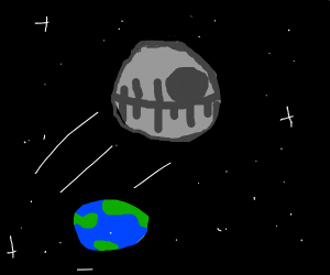 The Death Star over earth