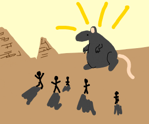 The Egyptians worshiping The Great Rat