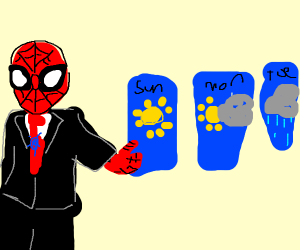 spiderman reporting weather