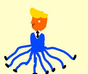 Donald Trump, but an octopus
