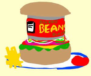 burger but beans instead of meat