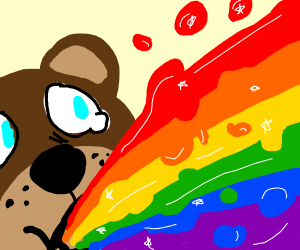 bear barfing rainbows