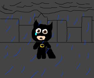 Chibi crying batman