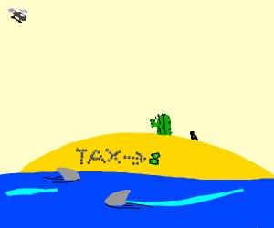 Man on desert island still sends taxes