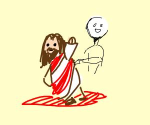 Jesus gets killed in the hood