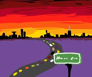 traffic at sunrise