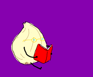 Onion enjoying a good book