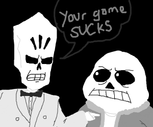 Skeleton Insults another skeleton :C