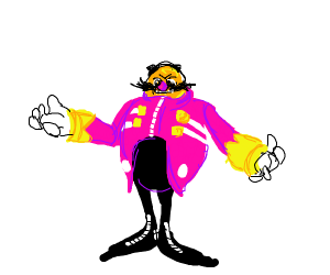 eggman but his jacket is pink