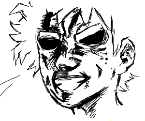 Deku from MHA with all mights face
