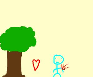 bleeding man likes trees