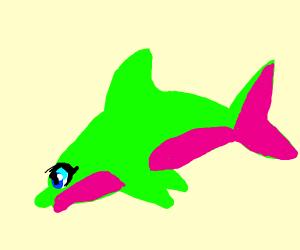 neon anime dolphin