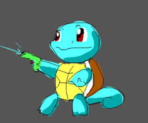 Squirtle with a gun